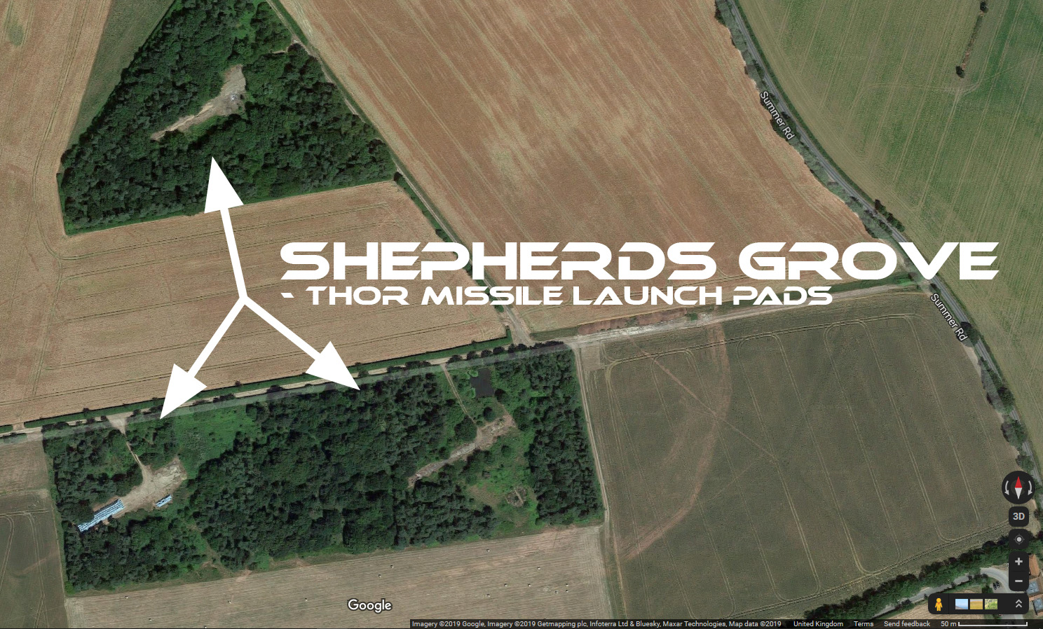 Shepherds Grove Thor missile launch pads